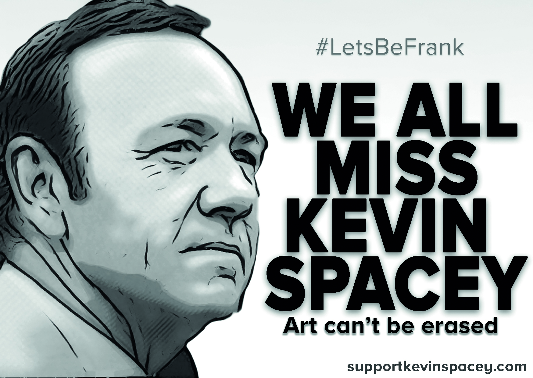 SupportKevinSpacey.com Flyer Kevin Spacey