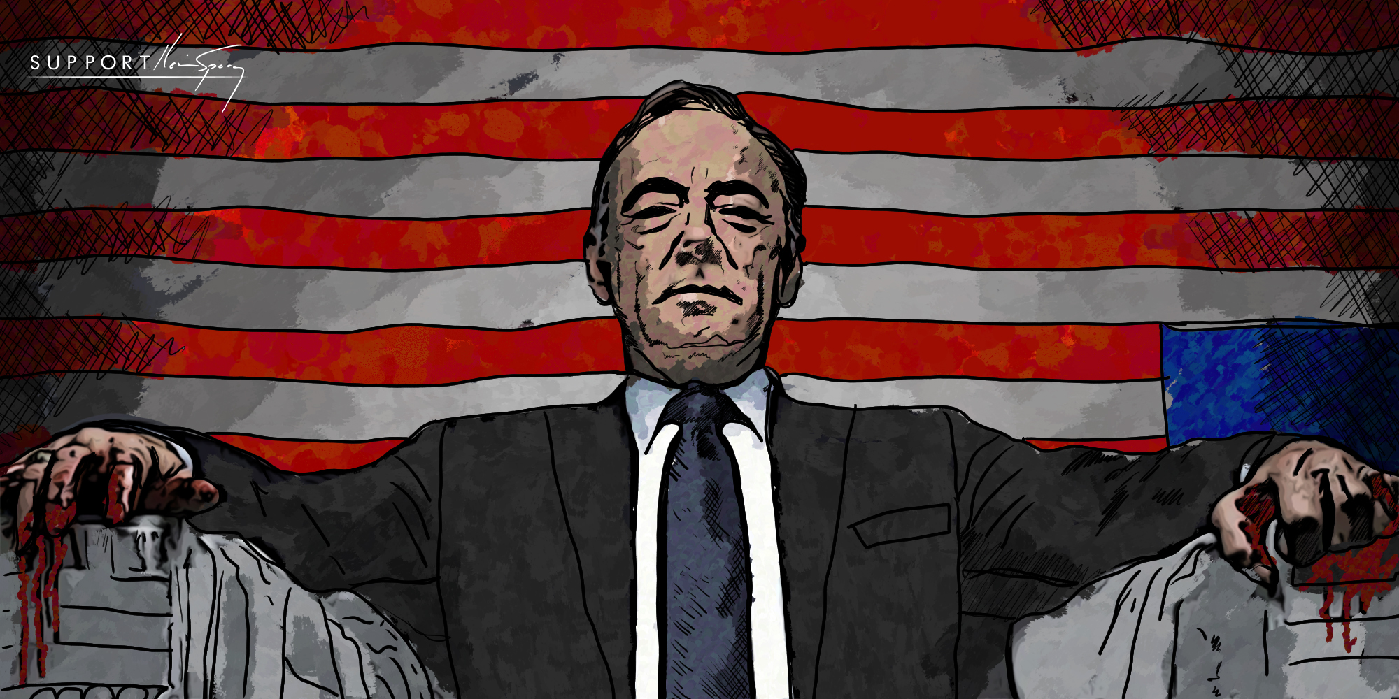 Frank Underwood - Kevin Spacey - SupportKevinSpacey.com